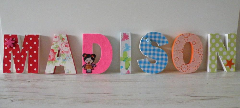 Kinderkamer Houten Letters Kinderkamer : Houten Letters Beschilderd ...